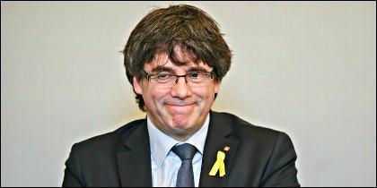 El prófugo Carles Puigdemont.