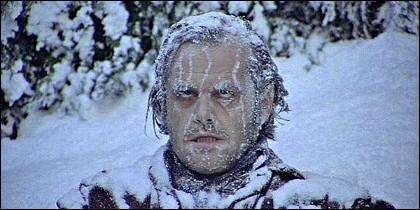 El frío de Jack Nicholson en 'El Resplandor'.