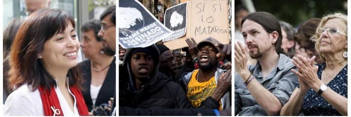 Rommy Arce, los senegaleses exaltados contra la Policía y Carmena aplaudiendo los ataques a los agentes.