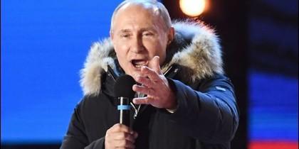 Putin dijo a sus seguidores que consideraba los resultados como una demostración de la aprobación de sus políticas