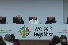 El Papa, en la asamblea presinodal de los jóvenes