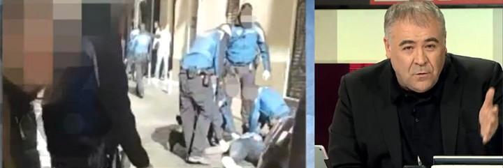 Ferreras y el vídeo de la reanimación de la Policía Local al mantero fallecido.