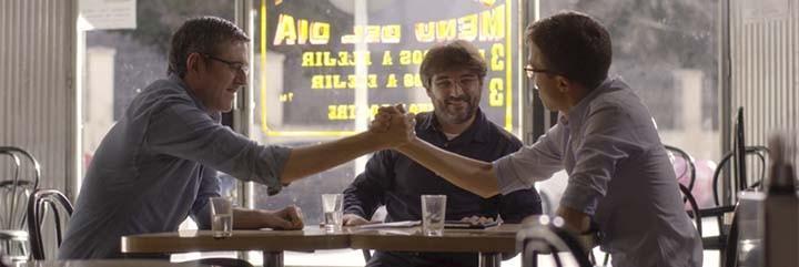 Eduardo Madina, Jordi Évole e Iñigo Errejón.