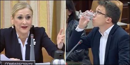 Cristina Cifuentes e Íñigo Errejón, cara a cara en el Congreso.
