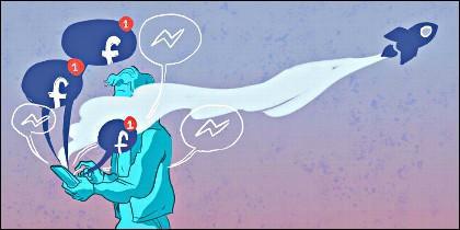Los usuarios de Facebook.