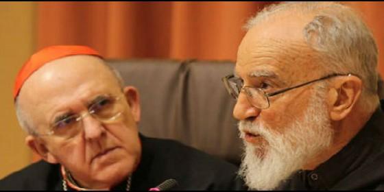 Raniero Cantalamessa, junto a Carlos Osoro
