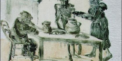 """""""Cosas de la bucólica. La gastronomía en El Quijote""""."""