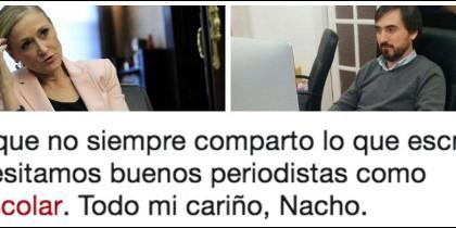 Cristina Cifuentes, Nacho Escolar y el tuit de la presidenta.