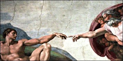'La Creación', en la Capilla Sixtina del Vaticano.