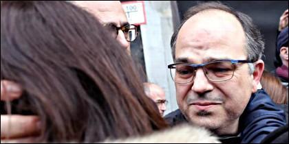 Jordi Turull (PDeCAT), camino de la cárcel.