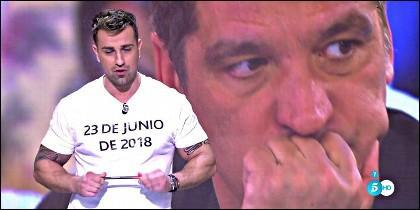 Rafa Mora y Gustávo González en ¡Sálvame' de Telecinco.