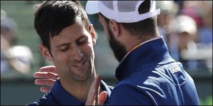 Djokovic y Paire