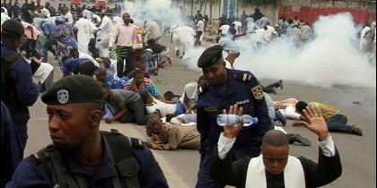 Represión de manifestaciones pacíficas organizadas por católicos