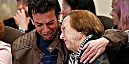 El padre y la abuela de Gabriel Cruz, el niño asesinado en Níjar.