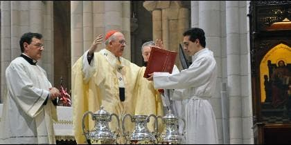 El cardenal Osoro, durante la Misa Crismal