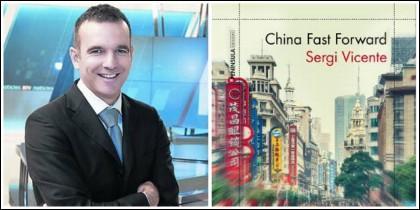 Sergi Vicente y la portada de 'China Fast Foward'.