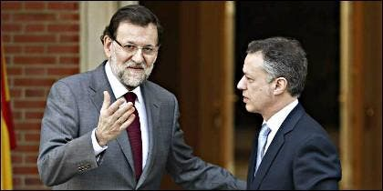 Mariano Rajoy (PP) con Iñigo Urkullu (PNV).