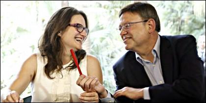 Mónica Oltra (COMPROMIS) y Ximo Puig (PSOE).