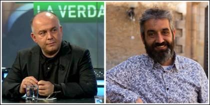 Gonzalo Boye y su entrevistador, Roger de Gracia.