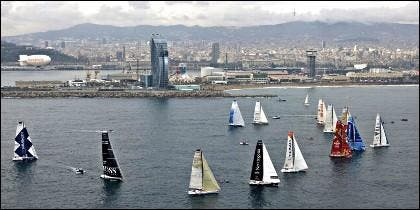 Los veleros de la Barcelona World Race.