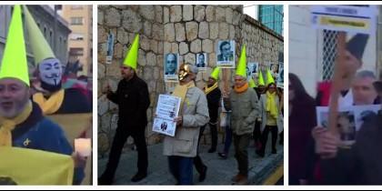 Procesión 'amarilla' en Tarragona.