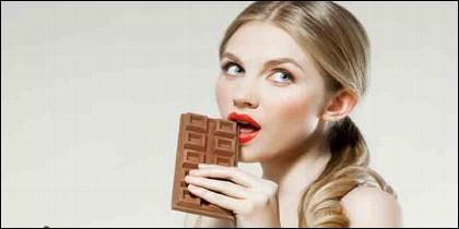 Belleza, salud, comida, dieta, chocolate y cacao
