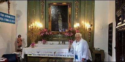 El Padre Ángel, en la capilla del Humilladero de Fuencarral