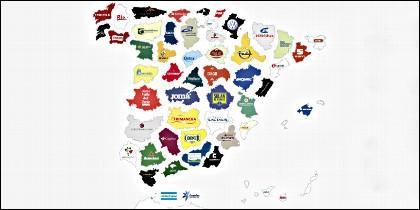 Top empresas españolas por provincias.