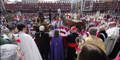 Blázquez, durante la procesión del Encuentro de Valladolid