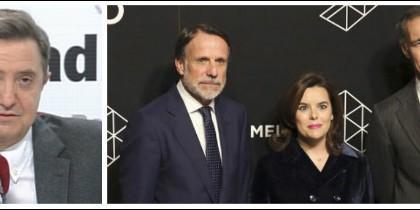 Federico Jiménez Losantos, José Crehueras, Soraya y Silvio González.