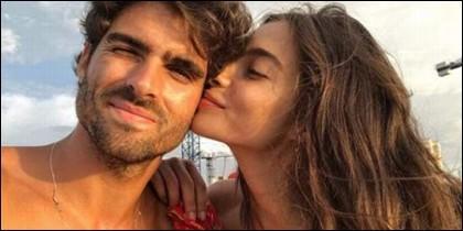 Rocío Crusset y su novio