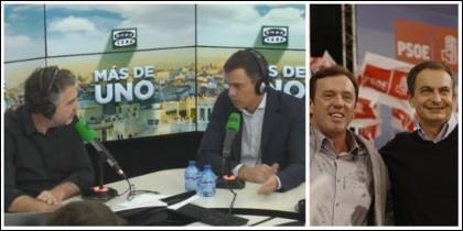 Carlos Alsina 'masajeando' a Sánchez y sin preguntarle por asuntillos de financiaciones irregulares.