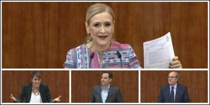 Cristina Cifuentes, Lorena Ruiz-Huerta, Ignacio Aguado y Ángel Gabilondo.