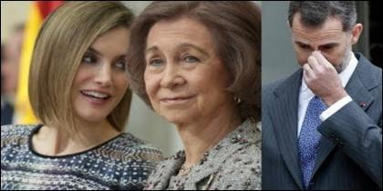 Letizia, doña Sofía y el rey Felipe