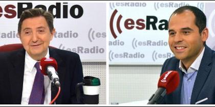Federico Jiménez Losantos e Ignacio Aguado.