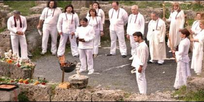 Ceremonia de una secta religiosa