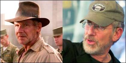 Steven Spielberg y Harrison Ford