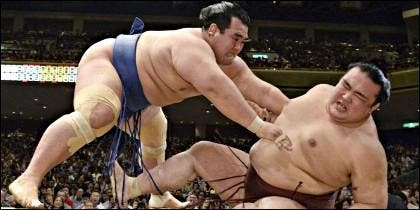 Combate de sumo.