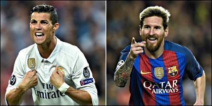 Cristiano Ronaldo y Lionel Messi.