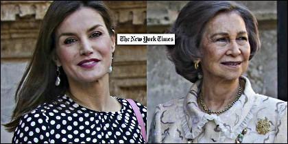 La Reina Letizia y la Reina Sofía en 'The New York Times'.