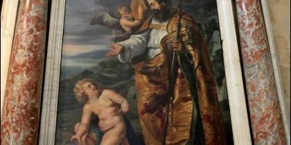 'San Agustín meditando sobre el misterio de la Santísima Trinidad'