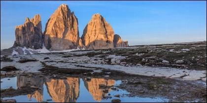 La BBC confundió el Tre Cime di Lavaredo, de los Dolomitas (Italia) con el Himalaya