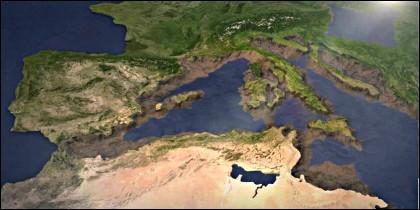 El Mediterráneo hace 6 millones de años.