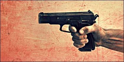 Crimen, homicidio, asesinato, pistola y delito.