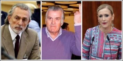 Francisco Correa, Luis Bárcenas y Cristina Cifuentes.