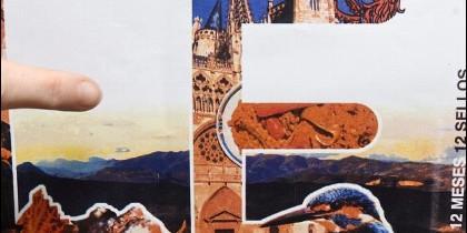 Detalle del sello que ilustra la Catedral de Burgos