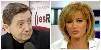 Federico Jiménez Losantos y Susanna Griso.