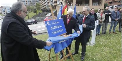 Inauguración de la Plaza del Cardenal Tarancón en Oviedo