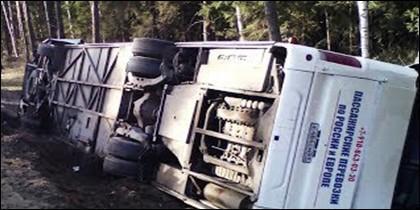 Accidente de autobús.
