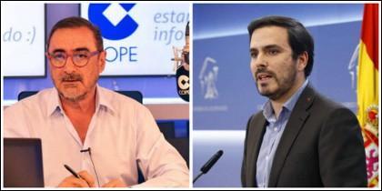 Carlos Herrera y Alberto Garzón.